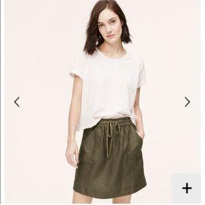Loft olive green skirt